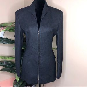 EUC Escada Grey Double ZIP Jacket